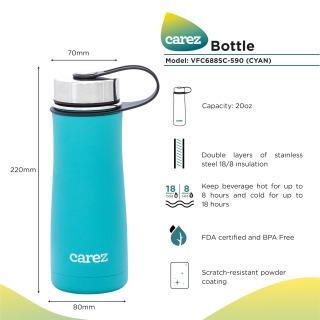 Bình giữ nhiệt Carez dòng thể thao 590ml VFC688SC-590, thiết kế mang tính thể thao, phù hợp với các bạn trẻ năng động thumbnail
