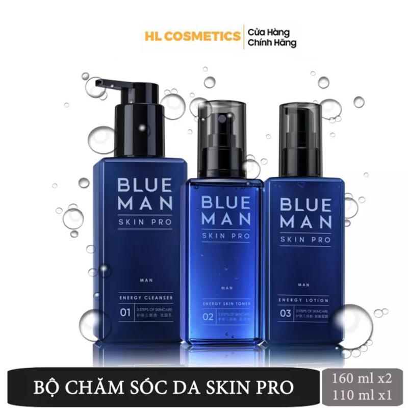 Bộ 3 Chăm Sóc Da Skin Pro BLUEMAN Chống Nhờn Dưỡng Ẩm Sạch Da