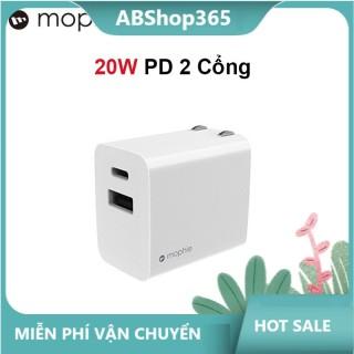 Củ Sạc Mophie 20W 2 cổng USB + C - Hàng Chính Hãng hshop365 abshop365 abshop hshop abshop thumbnail