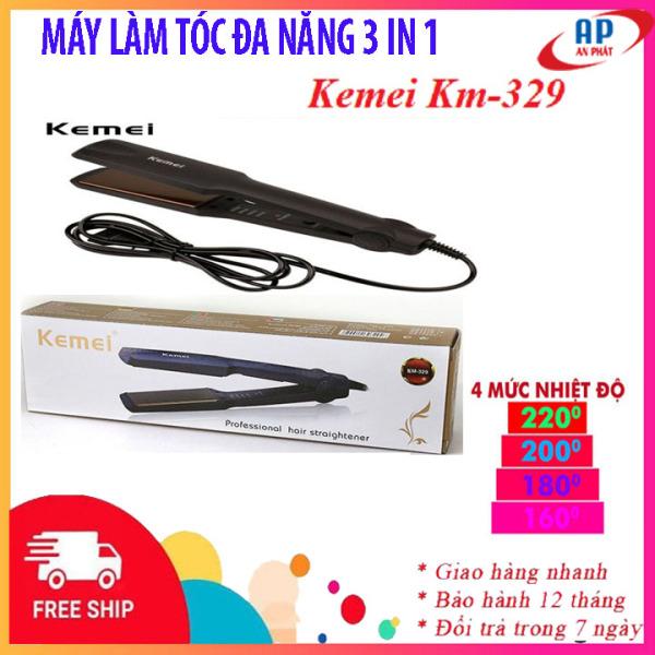 [RẺ VÔ ĐỐI] Máy ép tóc thẳng Kemei KM 329 có 4 mức điều chỉnh nhiệt thỏa sức cho bạn tạo các kiểu tóc ưa thích- máy là tóc thẳng mini, máy làm tóc giá rẻ, máy duỗi uốn tóc đẹp như máy làm tóc đa năng Nova 8890 nhập khẩu
