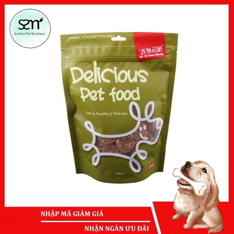 Bánh thưởng cho chó Sumiho (Khoanh bò gà nguyên chất 100%) (400gr/túi) Đồ ăn cho chó mèo thú cưng