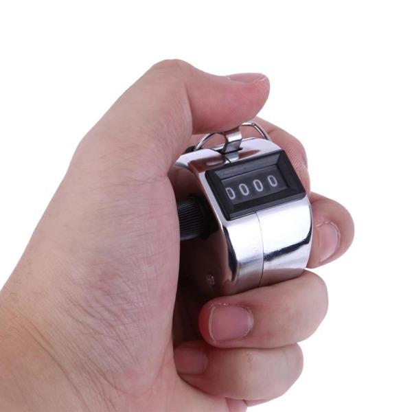 Máy đếm số cầm tay vỏ kim loại cơ học đếm số lượng đếm nhẩm đếm số lần niệm phật sq38