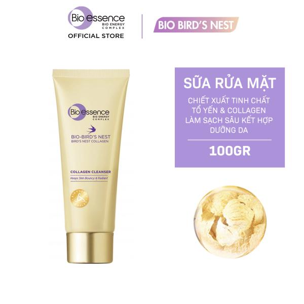 Sữa rửa mặt dưỡng da tươi sáng và căng mọng Bio-essence Bio-Birds Nest Collagen Cleanser 100g