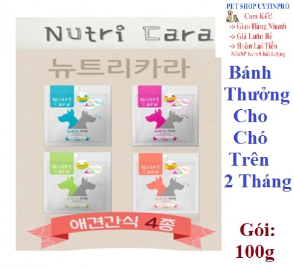 BÁNH THƯỞNG CHO CHÓ Nutricara Dog Food Dạng thanh mềm Gói 100g Xuất xứ Hàn Quốc