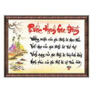 tranh thư pháp phước hạnh gia đình tặng kèm khung thumbnail