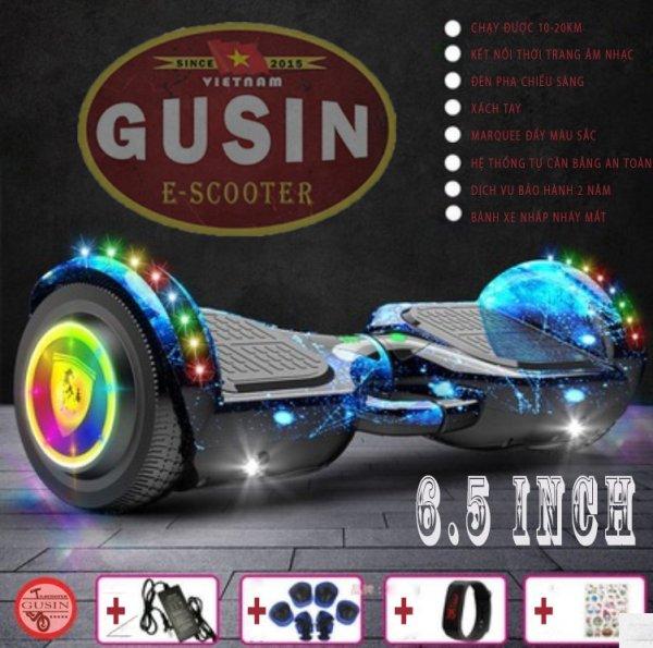 Giá bán [HCM]xe điện tự cân bằng 6.5inch Màu Xanh Đen đẹp nhất / E-Scooter GuSin thương hiệu đi cùng năm tháng