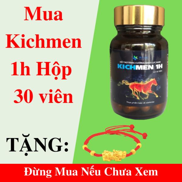 Kichmen 1h 30 viên Uống Tăng Cường Sinh Lý Nam, Bổ Thận, Cường Dương, Chống Xuất Tinh Sớm + Tặng Vòng Chỉ Đỏ