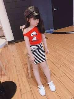 Đầm váy bé gái, sét váy body 2 chi tiết thun cotton cho bé gái từ 8kg đến 18kg (màu hồng, đỏ, vàng)