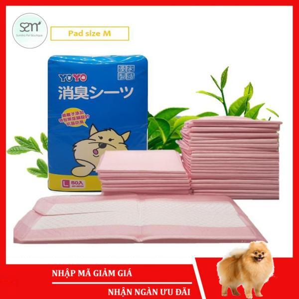 Tã lót cho chó mèo thú cưng Sumiho size M 45x60cm (50 cái) hương trà xanh