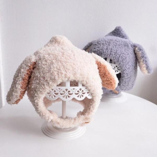 Mũ len lông cừu tai thỏ MS 2030