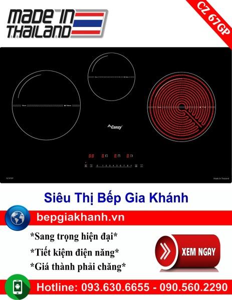 Bếp điện từ 3 vùng nấu Canzy CZ 67GP nhập khẩu Thái Lan, bếp điện từ, bếp điện từ đôi âm, bếp điện từ đôi, bếp điện từ đôi đức, bếp điện từ đôi nhật, bếp điện từ giá rẻ, bep dien tu gia re, bep dien tu hong ngoai