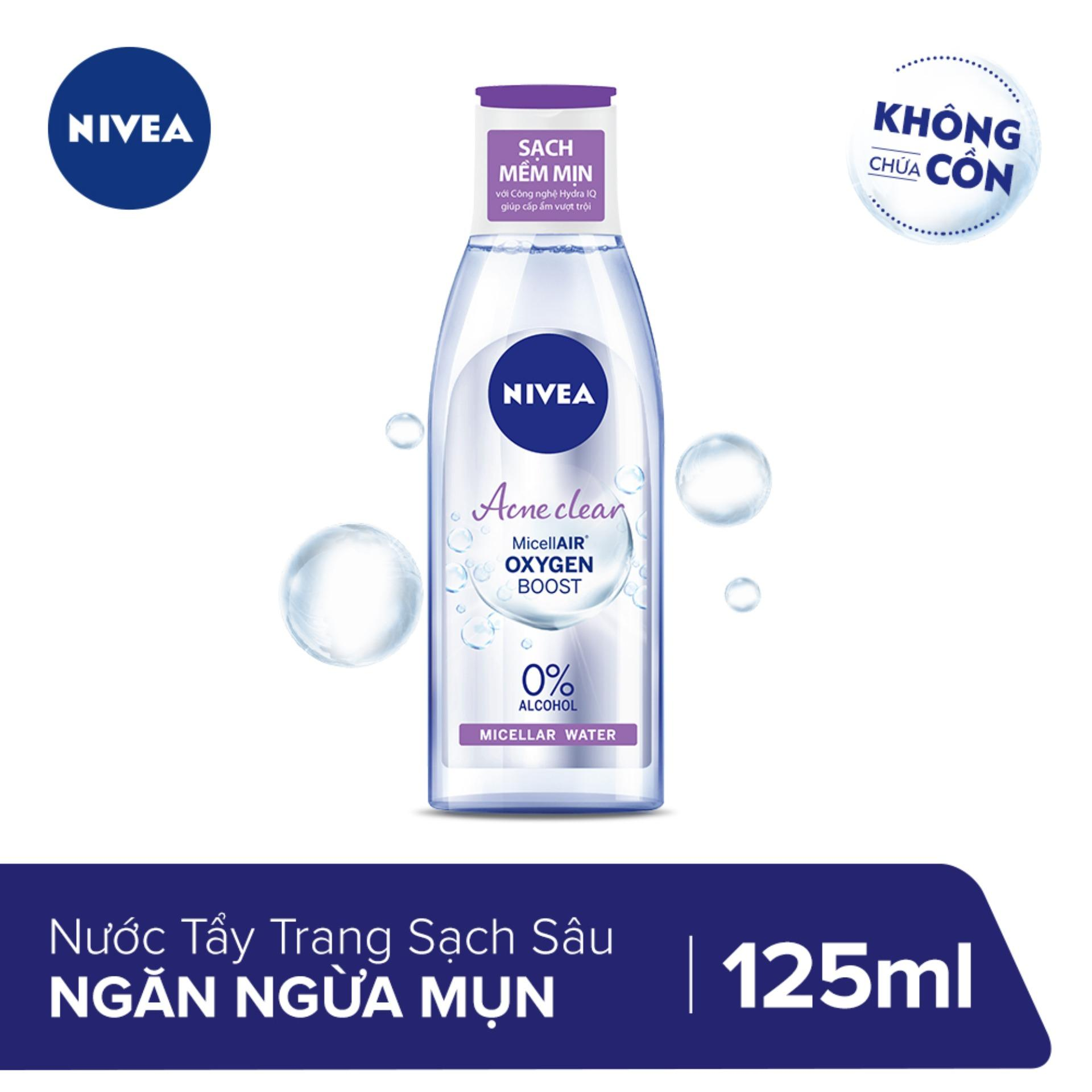 Nước tẩy trang Nivea Acne Care Make up clear Micellar water 125ml _ 89270