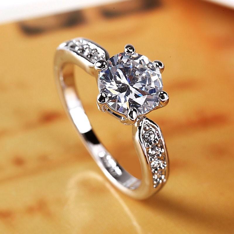 Nhẫn nữ Pha lê tình yêu S925 đính đá tinh tế sang trọng