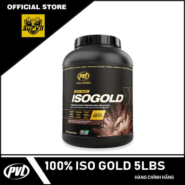 PVL ISO GOLD 5LBS - PREMIUM ISOLATE 100% WHEY PROTEIN POWDERS ISOGOLD - Sữa tăng cơ siêu tinh khiết hấp thu nhanh có Probiotic giúp tiêu hóa tốt