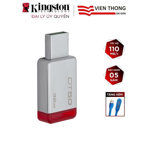 Bảng giá USB 3.1 32GB KINGSTON DT50 - hãng phân phối chính thức+Tặng đèn led cổng usb Phong Vũ