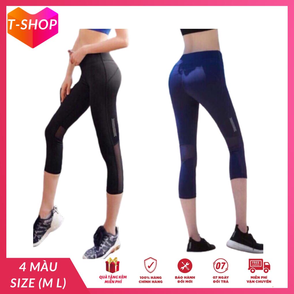 [HCM]Quần lửng thể thao nữ lưới sau quần tập yoga nữ lửng quần áo tập yoga giá rẻ tphcm-CR015