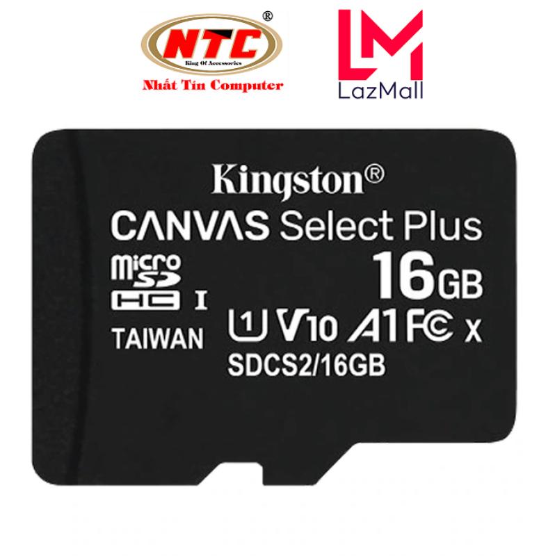 Thẻ nhớ microSDHC Kingston Canvas Select Plus 16GB U1 V10 A1 100MB/s (Đen) - Không Adapter