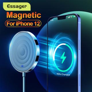 Essager 15W Qi hỗ trợ bộ sạc không dây từ tính Magsafe cho iPhone 12 11 Pro Max Mini Xs X Xr 8 Miếng sạc nhanh cảm ứng cho Samsung Xiaomi mi 10t pro thumbnail