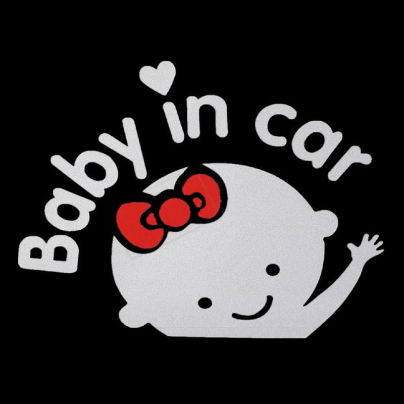 TEM TRANG TRÍ DECAL BABY IN CAR-GIRL (Trắng Đỏ)