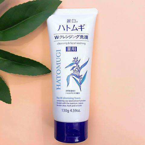 Sữa Rửa Mặt Hạt Ý Dĩ Nhật Bản Hatomugi Cleansing And Facial Washing (130g)  Trắng Da, Sạch Mụn, Ẩm Da Mặt, Chống Lão Hóa. | Lazada.vn