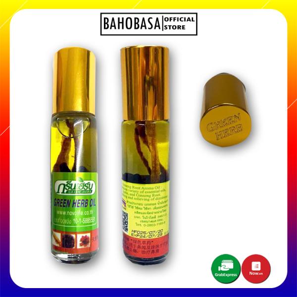[HCM]Dầu sâm thảo dược Thái lan Green Herb Oil 8cc 1 CHAI
