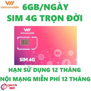 Sim 4G vietnamobile trọn đời 180GB thumbnail