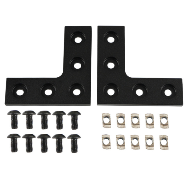 Giá 3D Printer Accessories 2020 Aluminum Profile Connection L-Board Right Angle Connector for Ender Openbuilds