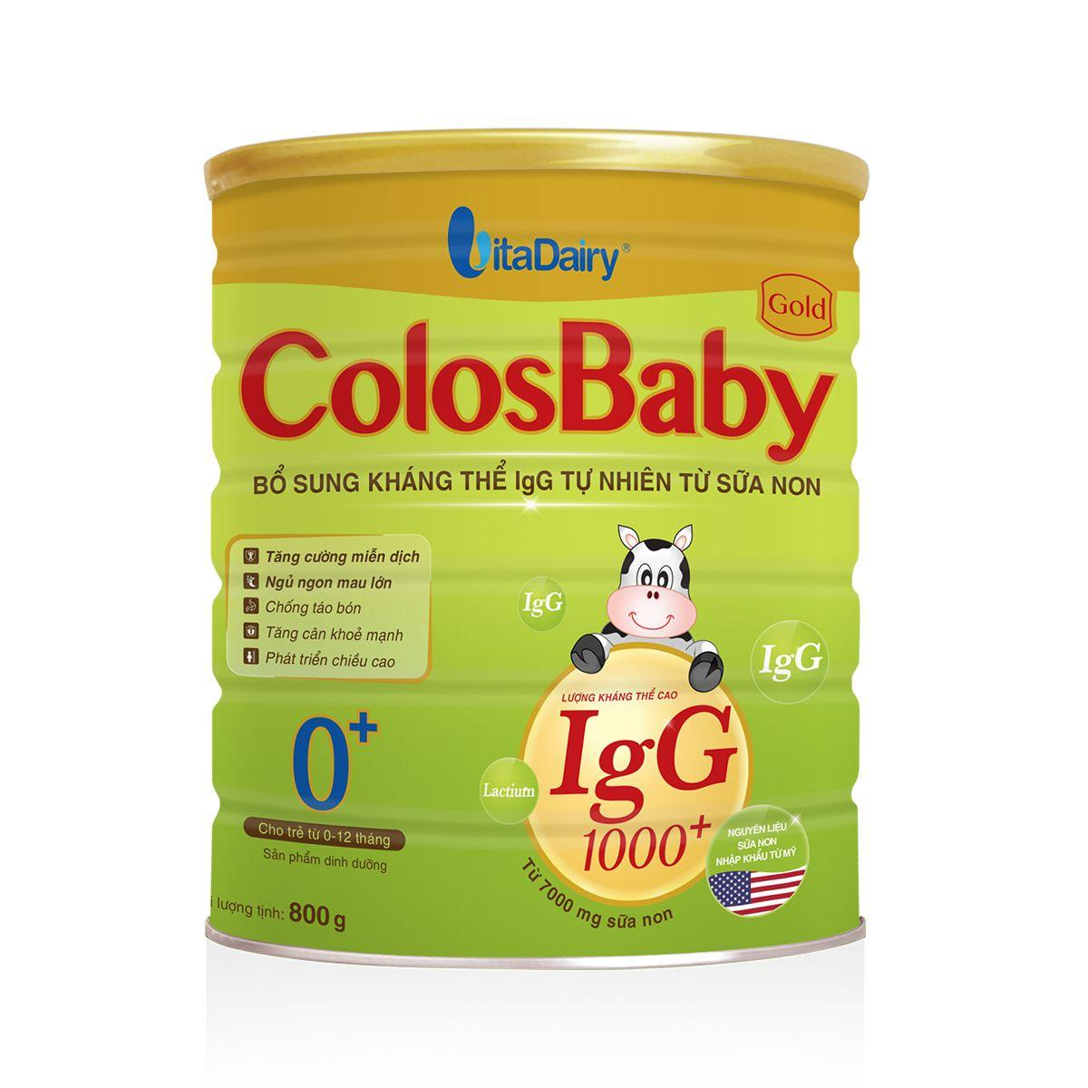 Sữa Non ColosBaby Gold 0 800g (0-12 tháng)