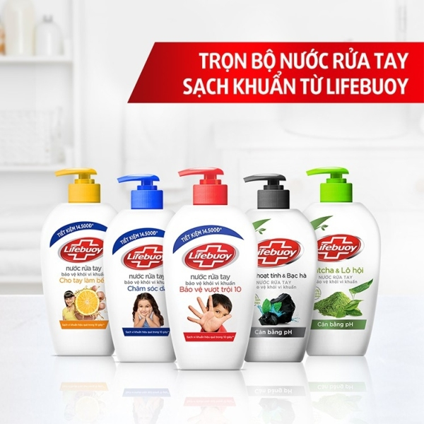 combo 2 chai nước rửa tay lifebouy chai 180ml( chat để chọn màu)