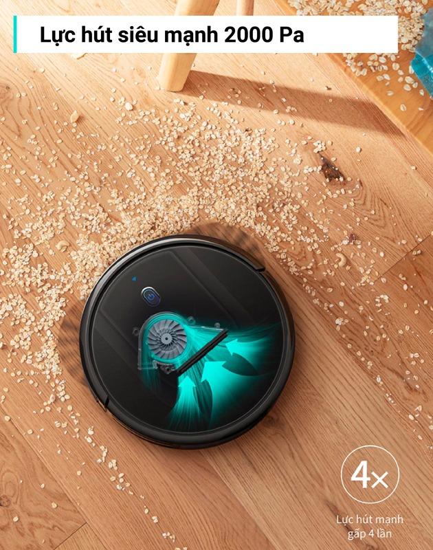 Robot hút bụi DEEBOT OZMO 600-DD3G. Hút và lau sàn nhà 2 IN 1, điều khiển thông qua Smartphone. Hàng chính hãng. Bảo hành 18 tháng