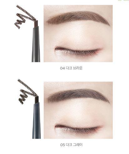 Chì Kẻ Chân Mày TheFaceShop Designing Matte Eyebrow Pencil 05 Dark Grey 0.18G tốt nhất