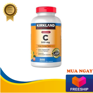 [ Domy.Vn ] Viên Nhai Vitamin C 500mg Kirkland Signature 500 Viên - Hỗ trợ hệ thống miễn dịch và thúc đẩy hoạt động chống oxy hóa, Giúp xây dựng sức khỏe răng, nướu răng và xương - Đồ Mỹ thumbnail