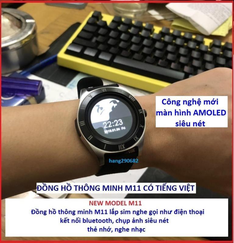 Nơi bán Đồng Hồ Thông Minh M11, Có Tiếng Việt, Bluetooth, Camera, Thẻ Nhớ, Lắp Sim Nghe Gọi Như Điện Thoại