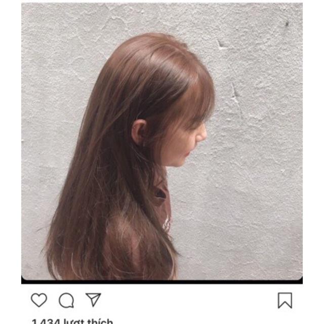 Thuốc nhuộm tóc màu Nâu Cafe Sáng + kèm trợ nhộm 100ml cao cấp