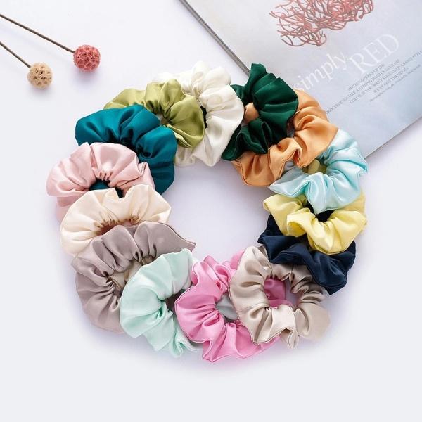 Dây Buộc Tóc Scrunchies Nhung Nhiều Màu cute dễ thương Hàn Quốc CT9 giá rẻ