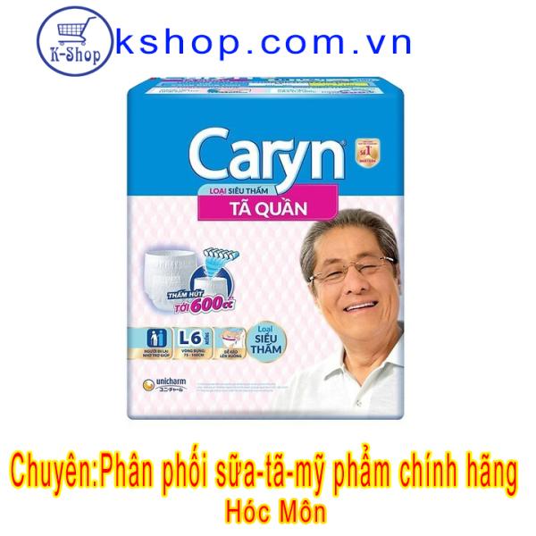 Tã quần Caryn Siêu Thấm L6 (75-100CM) nhập khẩu