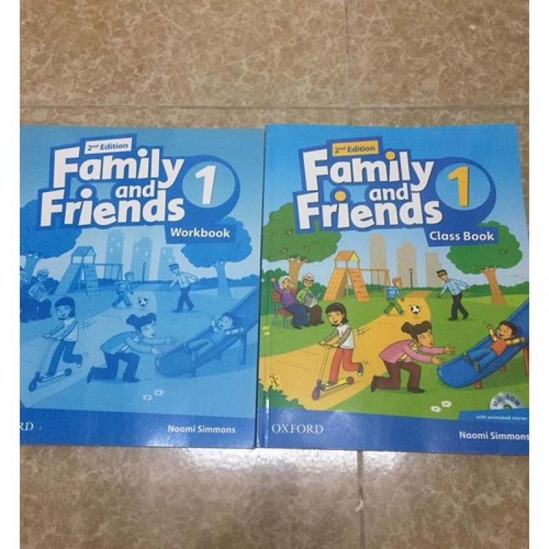 Sách Nhập - Family and Friend 1- 2nd- CB+ WB - Bản Gốc, Chất Liệu Cao- Childrens Book