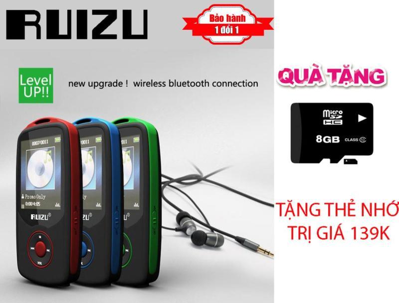 Máy nghe nhạc Lossless Bluetooth Ruizu X06 - Nhỏ gọn đến không ngờ + Thẻ nhớ 8bg Class 10