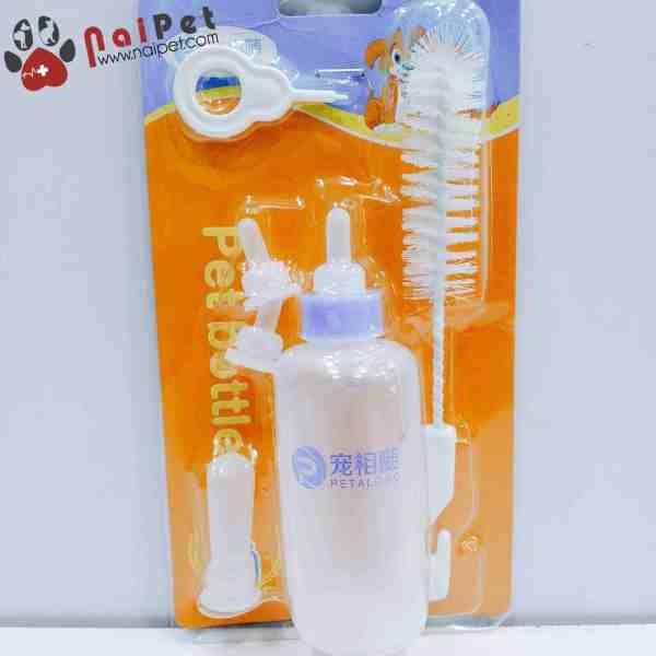 Bình Ti Bình Sữa Chó Mèo Sơ Sinh Pet Bottles Petalong 60ml