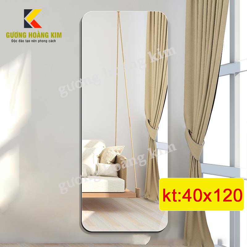 Gương soi toàn thân treo tường cao cấp kích thước 40x120 cm - guonghoangkim Mirror