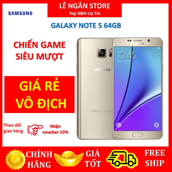 Samsung galaxy Note 5 bộ nhớ 64G ram 4G đủ màu ,Bao đổi miễn phí tại nhà