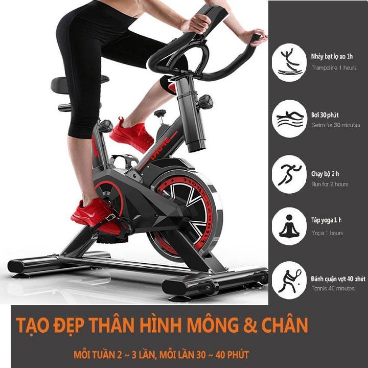 Xe đạp tập thể dục tại nhà, thon gọn eo, giảm mỡ bụng và bắp chân - xe đạp thể dục