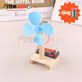 Đồ chơi khoa học tự lắp ghép mô hình quạt mini chạy bằng pin - Trò chơi DIY STEM BOX thumbnail