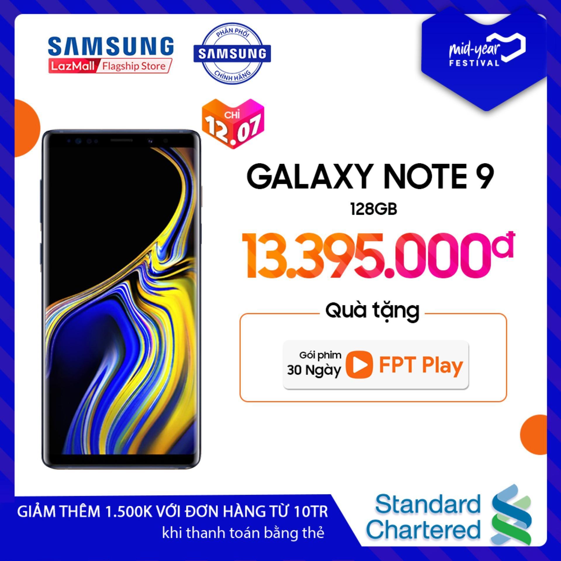 Điện thoại Samsung Galaxy Note 9 - 6GB RAM - 6.4 inch - - Android điện thoại thông minh