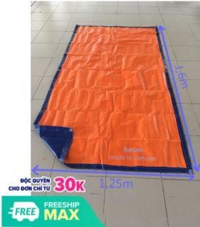Tấm bạt che nắng mưa, không thấm nước, màu xanh - cam, 2 mét vuông may sẵn thumbnail