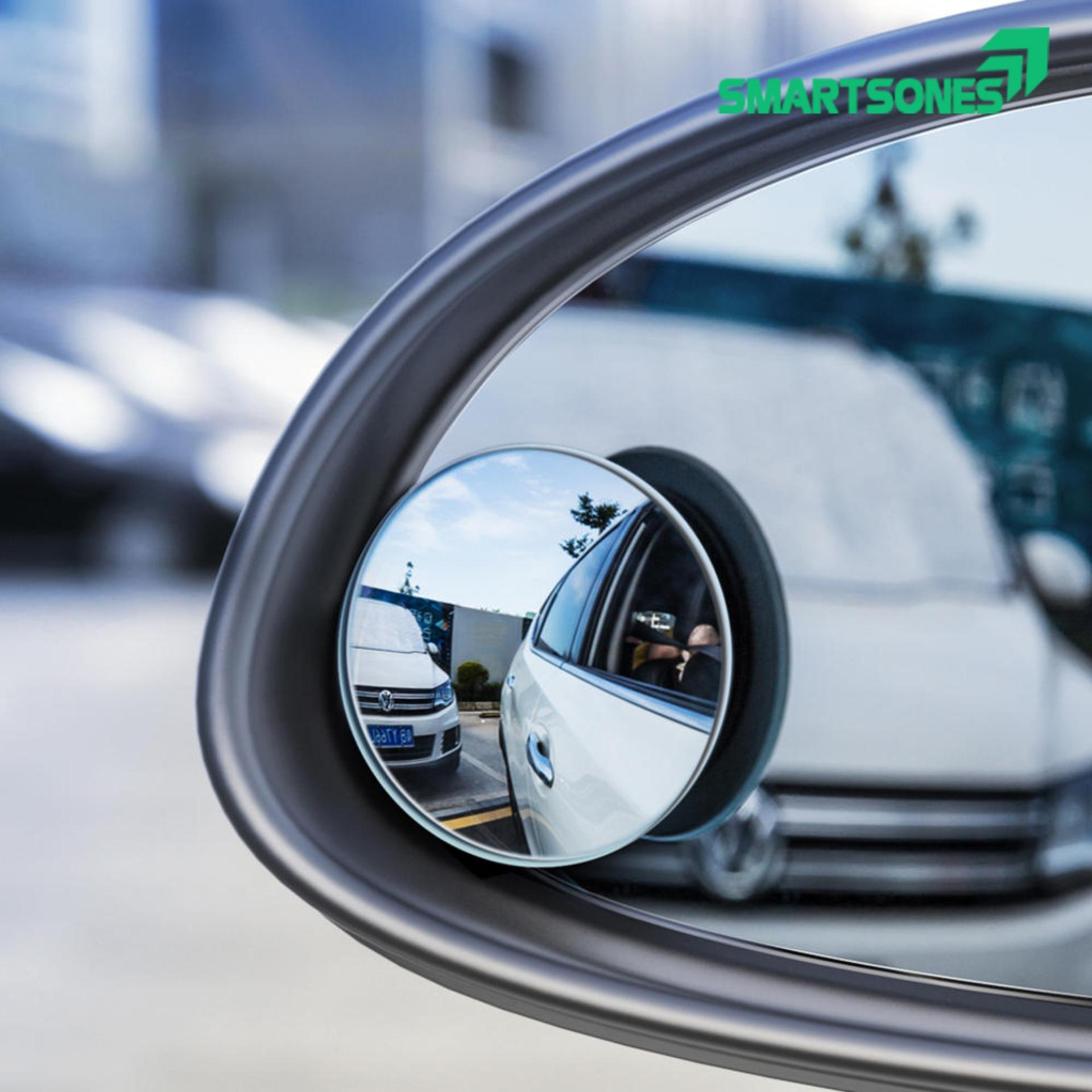 [Có video] Bộ 2 gương cầu lồi chiếu hậu xóa điểm mù xe hơi xoay 360 độ cho hình ảnh rõ ràng sắc nét cải thiện góc nhìn giúp người lái quan sát dễ dàng hơn