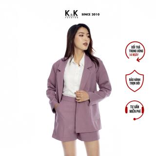 Áo Khoác Blazer Công Sở Nữ Màu Tím Tay Dài K&K Fashion AK10-10 thumbnail