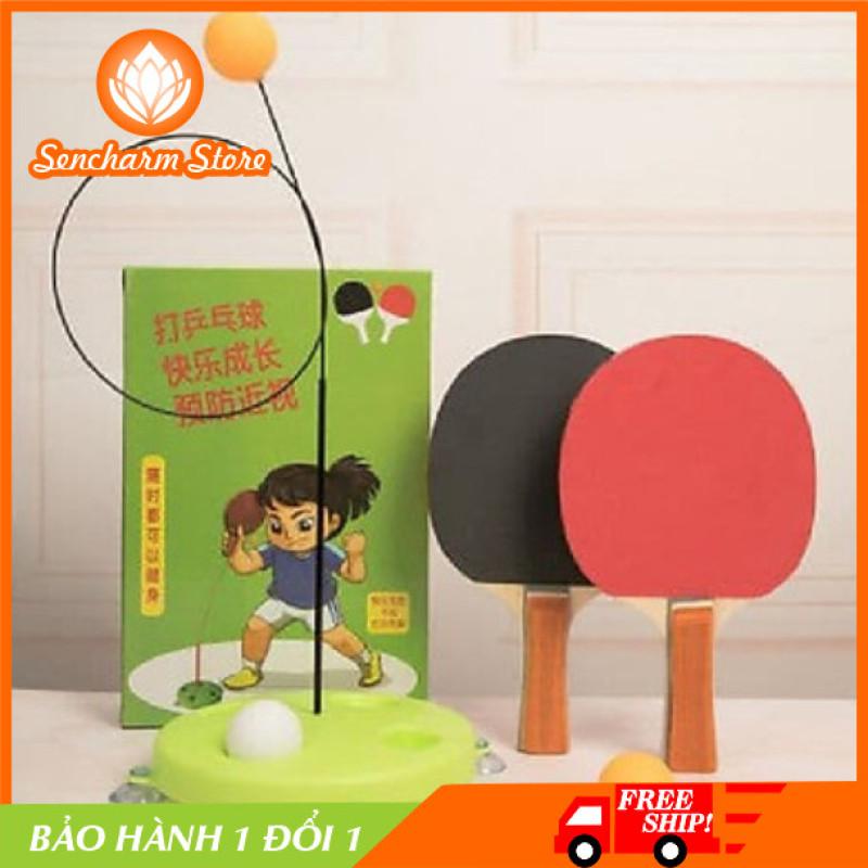 [BẢO HÀNH 1 ĐỔI 1] Bộ đồ chơi đánh bóng bàn luyện tập phản xạ - SENCHARM Store