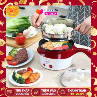 [CHẤT LƯỢNG TỐT] [Hàng Loại 1] Nồi Điện Mini Hai Tầng Đa Năng Tặng Kèm Khay Hấp có thể Chiên, Xào, Nấu ăn, nấu cơm, nấu lẩu mini thumbnail