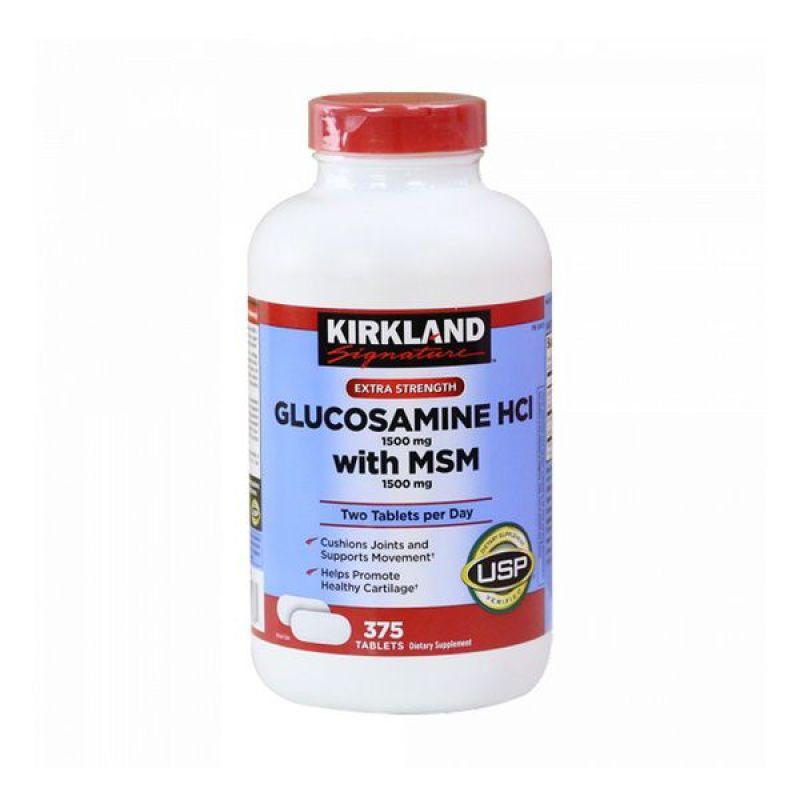 VIÊN UỐNG BỔ XƯƠNG KHỚP KIRKLAND GLUCOSAMINE MSM MỸ (375 VIÊN) cao cấp